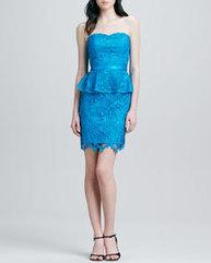Strapless Peplum Lace Cocktail Dress | beautyful | Scoop.it