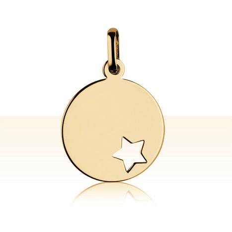 Médaille Or 375 °°° ETOILE AJOUREE | BIJOUX BAPTEME A GRAVER | ENFANT & BEBE | TERRE DE BIJOUX.COM | Bijoux enfant & Bébé (Cadeaux de bapteme, naissance, anniversaire) | Scoop.it