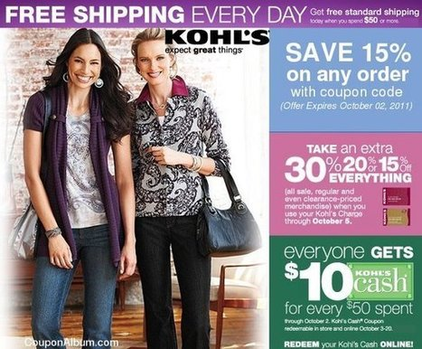 Kohl's offers attractive promotional coupon codes | fashion show | Scoop.it