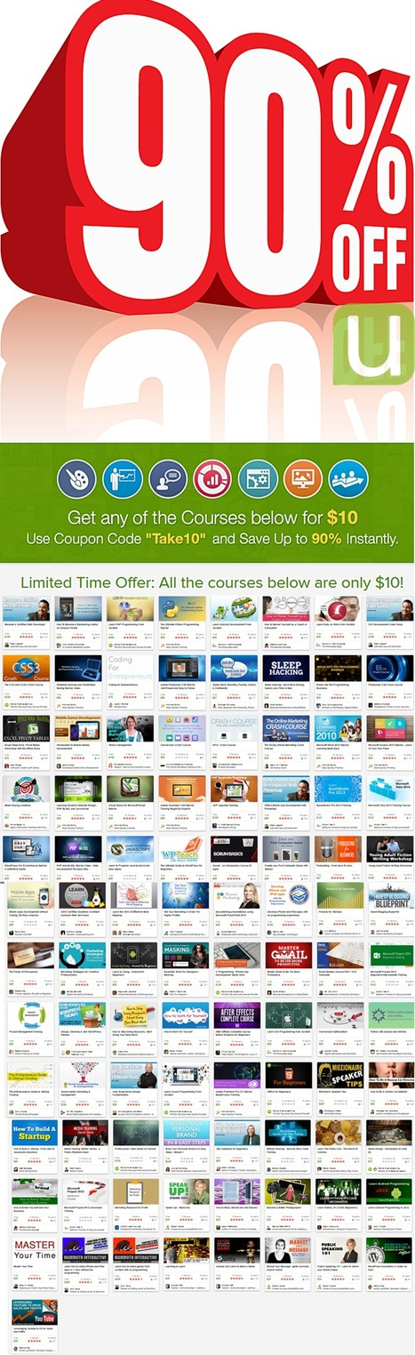 For 1 week only! Save up to 90% with $10 courses | Online Learning Marketplace | Scoop.it