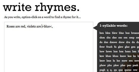 Write rhymes. | Edu 2.0 | Scoop.it