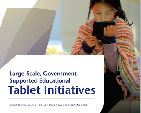 Commonwealth of Learning - Large-Scale, Government-Supported Educational Tablet Initiatives | Lehr@mt Connected | Scoop.it