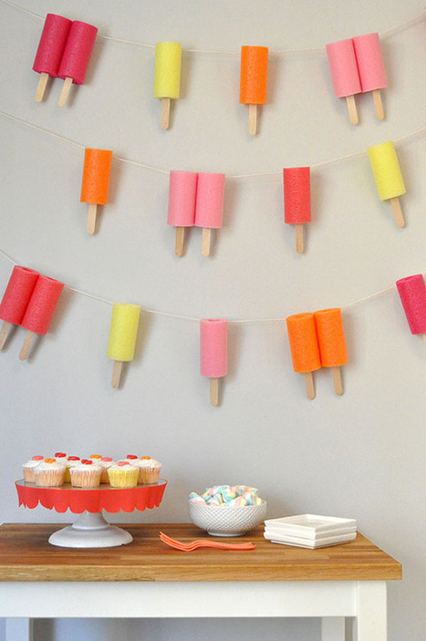 Jumbo Popsicle Garland | DIY pour enfants | Scoop.it