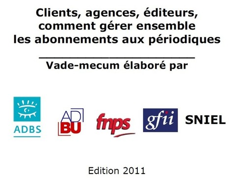 Gérer les abonnements périodiques : vade-mecum   Enssib   Actualité bibliothèques-archives   Scoop.it