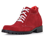 Red men heel gain boots that make you taller 9cm / 3.54inch | Elevator Height Boots for Men Taller | Scoop.it