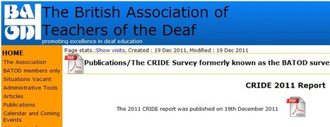 Deaf learners in UK - CRIDE 2011 Report | Inclusive teaching and learning | Scoop.it
