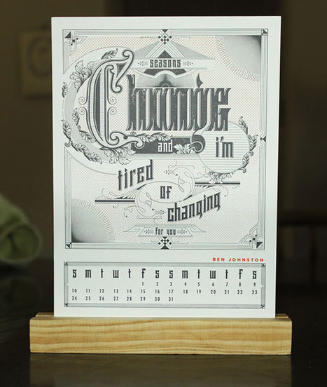 20 Beautiful Letterpress Calendar Designs | Inspired By Design | Scoop.it