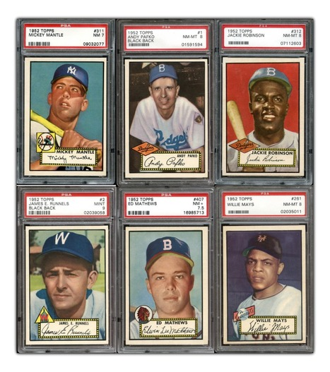 1952 Topps Baseball Set Auction Could Be One for the Ages | The Hottest PSA 10 Sports Cards on eBay | Scoop.it