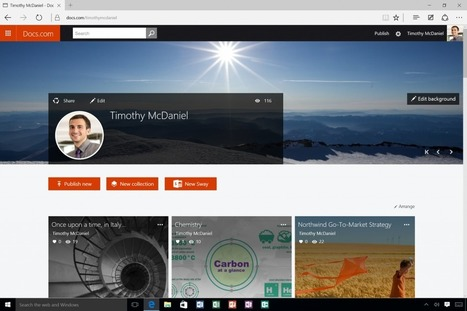 Microsoft Sway Exits Preview, With New Windows 10 App InTow   Jewish Education Around the World   Scoop.it