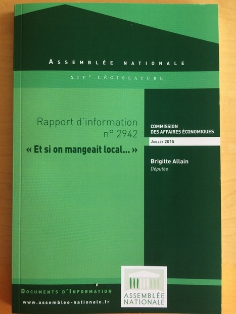 Remise de mon rapport : Et si on mangeait local… | Fil'Agro-Développement durable | Scoop.it