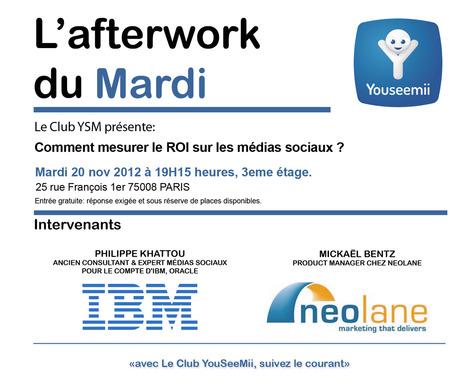 Compte-rendu du Club Youseemii : comment mesurer le ROI des médias sociaux ? | Blog YouSeeMii | Les problématiques de gestion des connaissances dans les entreprises | Scoop.it