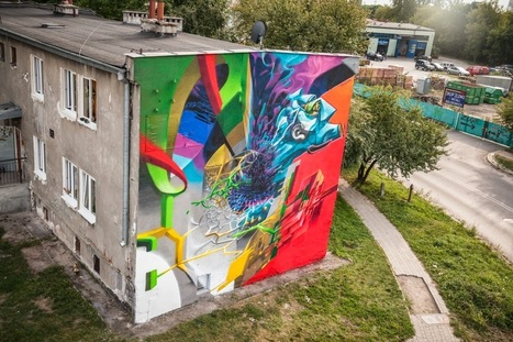 """Proembrion x Naris x Cekas """"Whirl Of Events"""" New Mural - Lublin, Poland 