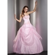 [US$ 229.99] Ball-Gown Sweetheart Floor-Length Organza Quinceanera Dress With Lace Beading (021004728)   fantastic dresses   Scoop.it