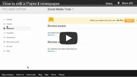 How to edit a Paper.li - video tutorial | SocialMediaDesign | Scoop.it