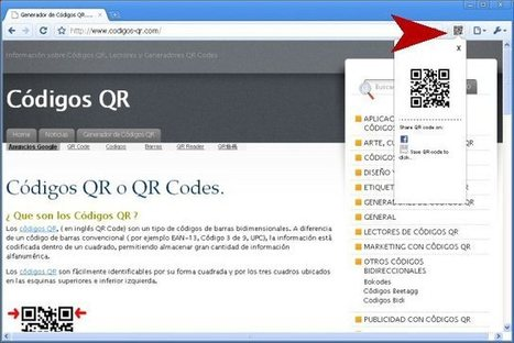Extensión de Google Chrome para Generar QR Codes | Códigos QR Codes | Uso seguro de la red | Scoop.it