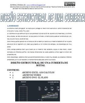 DISEÑO ESTRUCTURAL DE UNA CUBIERTA METALICA ~ descargar libros ingenieria civil gratis | Links Libros Civil | Scoop.it