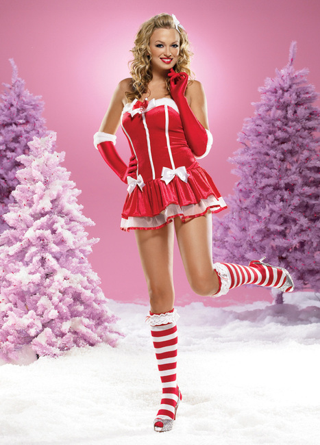 Sexy Fi Fi Santa Mini Dress –SexyLingeriesDeal.com | Christmas Costumes | Scoop.it