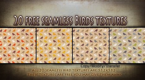 20 Free Seamless Colorful Birds Textures by Texture Shop | Teleport Hub | Second Life Freebies | Scoop.it