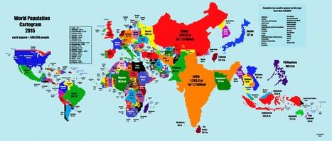 Así es un mapamundi acorde al tamaño de la población! | Chismes varios | Scoop.it