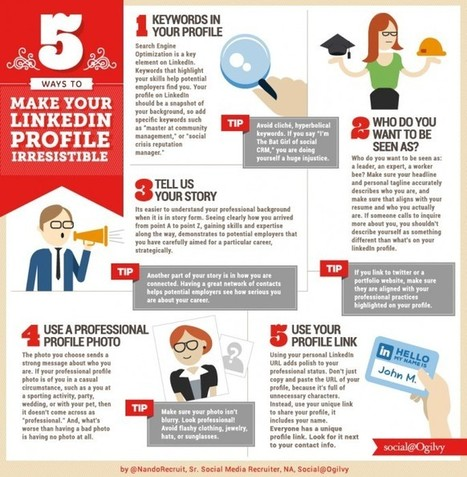 How to Make Your LinkedIn Profile Irresistible [5 Ways]   Actua web marketing   Scoop.it