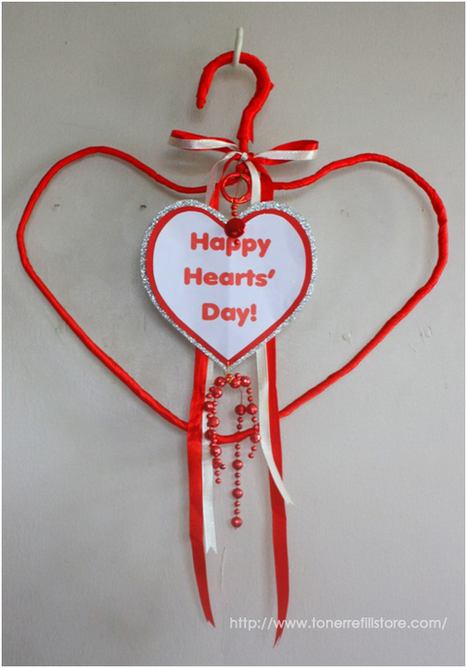 How to Make a Hanging Valentine's Day Décor Using a Coat Hanger? - Fun with Printer Crafts | Interesting Things | Scoop.it