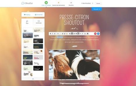 ShoutOut : la solution de newsletters ultra-simple de Wix | Webdesign, Créativité | Scoop.it