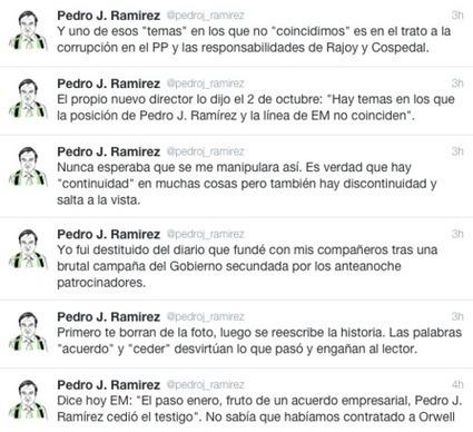 Pedro J. se desvincula de El Mundo tras la celebración del 25º aniversario del diario - 233grados.com   Total journalism xornalismo total   Scoop.it
