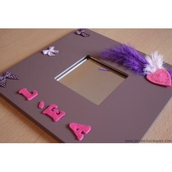 Cadre miroir violet avec prénom personnalisable - Je crée tu craques | Mes créations de bijoux fantaisie et autres | Scoop.it