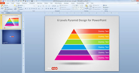 Free 6 Level Pyramid Template for PowerPoint | power point | Scoop.it