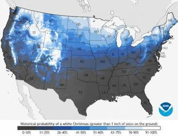Probability of a White Christmas   Geography Education   Scoop.it