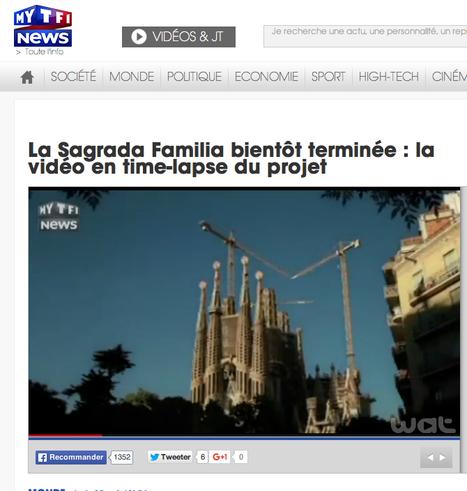 La Sagrada Familia bientôt terminée : la vidéo en time-lapse du projet - Vidéos - MYTF1News   Architecture Organique   Scoop.it