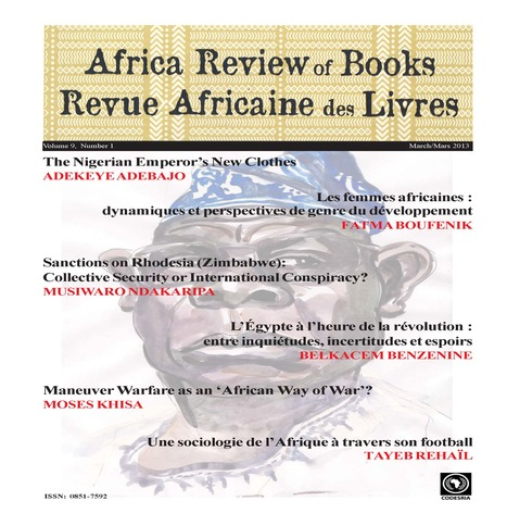 Africa Review of Books, Volume 9, n° 1, 2013   CODESRIA   Politics-in-&-around Africa   Scoop.it