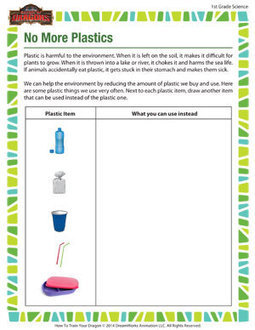 No More Plastics – Fun Science Worksheets – School of Dragons | Learning Curves | Scoop.it