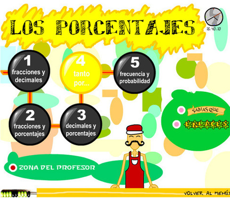 MilagroTIC: MATEMÁTICAS 6º - PORCENTAJES - PROBLEMAS DE ... | Matemáticas divertidas 1ºESO | Scoop.it