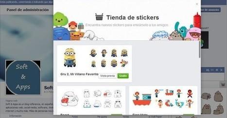 Ya han llegado los stickers al web chat de Facebook | Todo info sobre facebook y redes sociales | Scoop.it