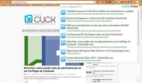 Consulta el contenido más compartido de una web en Twitter con TwitterPulse - EntreClicK.com | Cajón de sastre Web 2.0 | Scoop.it