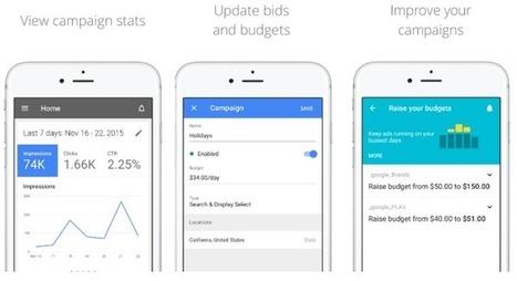 Google Adwords est désormais disponible pour iPhone et iPad | Référencement internet | Scoop.it