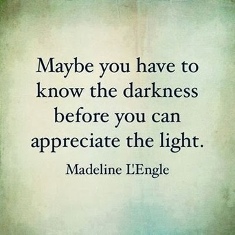 Maybe you have to know the darkness before you can appreciate the light. Madeleine L'Engle | Ultimate Empire Ave. Allstars | Scoop.it