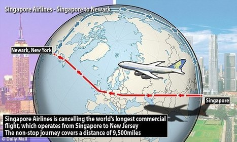World's longest commercial non-stop flights - both from Singapore to the U.S. | Politically Incorrect | Scoop.it