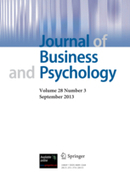 Journal of Business and Psychology  - incl. option to publish open access (Societies) | Industrial Organizational Psychology | Scoop.it