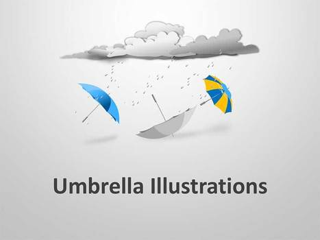 Umbrella Illustrations PowerPoint Template | PowerPoint Presentation Tools and Resources | Scoop.it