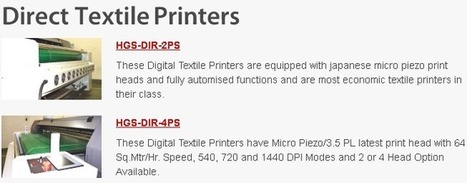 HGS Machines A Name to Bank Upon for Textile Printers | PRLog | HGS Machines Pvt Ltd | Scoop.it