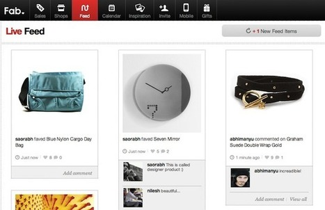 Now At 1.4M Members, Fab.com Turns Up The Social With A 'Live Feed' | Technoculture | Scoop.it