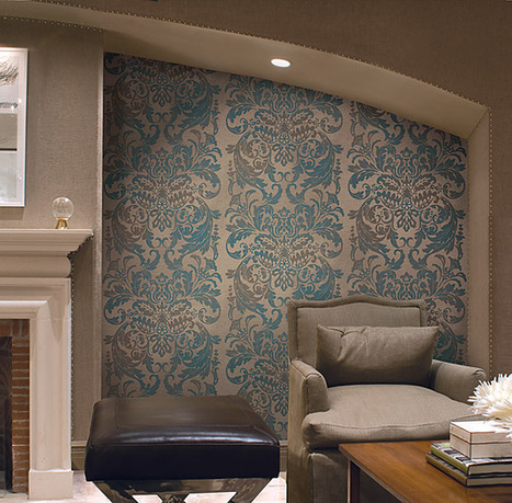 Create a Feature Wall with Wallpaper |  Wallcovering Blog | Best of Interior Design | Scoop.it