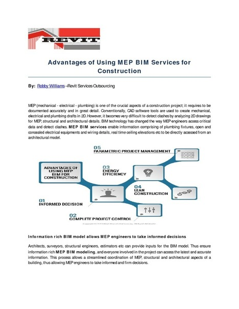 Advantages of Using MEP BIM Services for Construction | edocr | Building Information Modeling | Scoop.it