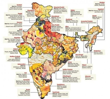 Food Map of India | Vagabond Guide | Travel | Scoop.it