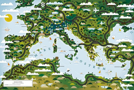 An atlas of world maps by illustrators and storytellers | Cartography | Scoop.it