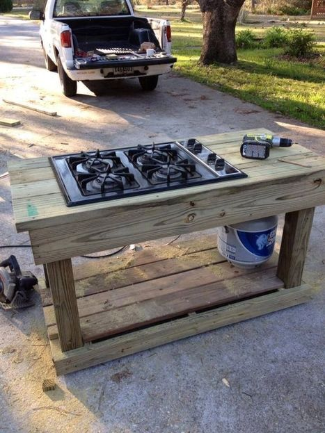 Make your own outdoor stove! Perfect diy lumber project! #LumberProjects | Outdoors | Scoop.it