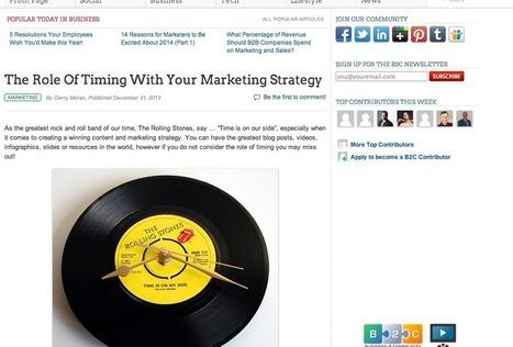 Quel est le rôle du « timing » lors de votre stratégie de marketing? | #TonUpdate | Relations publiques + Marketing | Scoop.it