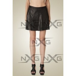 Forlic Lather Skirt | Womens Leather Skirt | Back zipper leather Skirts for women at discount | online shopping | Scoop.it